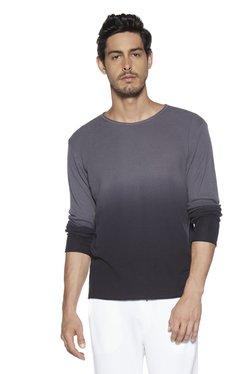 2c242feb8 ETA by Westside Anthra Self-Textured Slim Fit T-Shirt