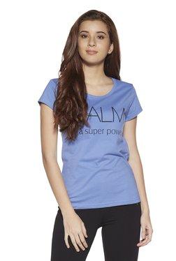 1f50d4102 Zudio Blue Text Printed Round Neck T-Shirt