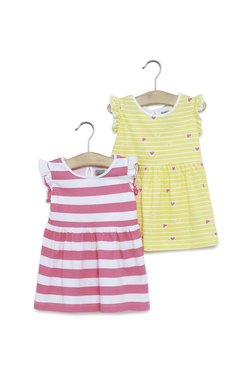 03aa159ce Baby HOP by Westside Pink Printed Dress Set Of Two