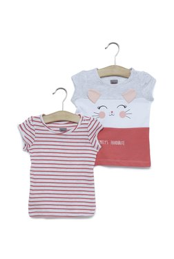 96cd491b5 Baby HOP by Westside Pink Cat Printed T-Shirt Set Of Two