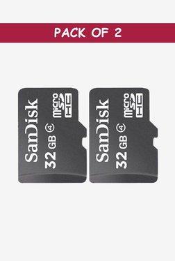 SanDisk SDSDQM-032G-B35A 32 GB Memory Card (Black) - Pack of 2
