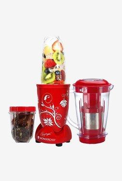 Wonderchef Nutri-Blend 3 Jars 400W Blender Juicer (Red)