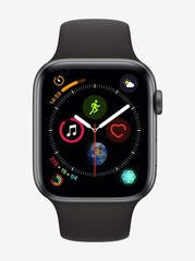 Apple Watch Series 4 MU6D2HN/A (GPS, 44mm) Space Gray Aluminum Case with Sport Band (Black)