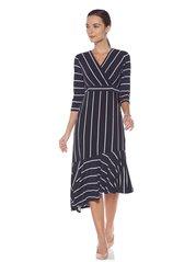 Wardrobe by Westside Navy Striped Cartina Dress