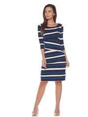 Wardrobe by Westside Navy Striped Dress