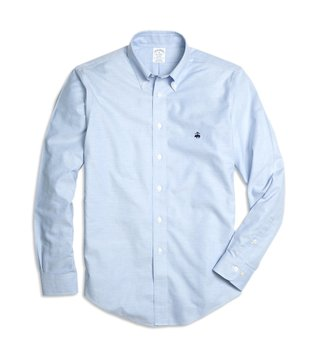 Brooks Brothers Light Blue NI Regent Fit Oxford Sport Shirt