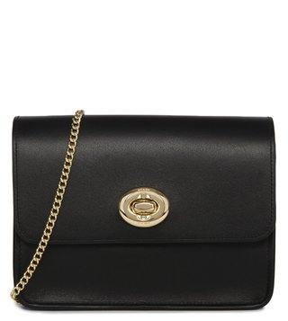 Coach Black Turnlock Chain Crossbody Bag