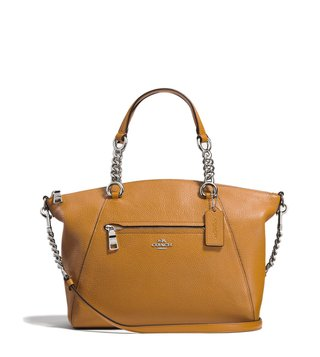 Coach Metal Light Saddle Prairie Satchel