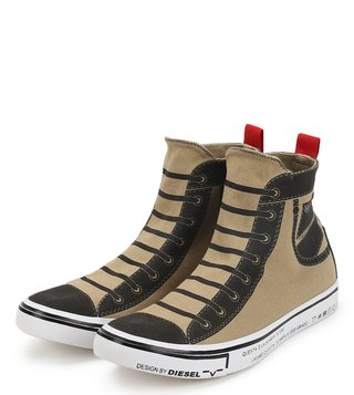 Diesel Brown Imaginee Mid Slip Sneakers