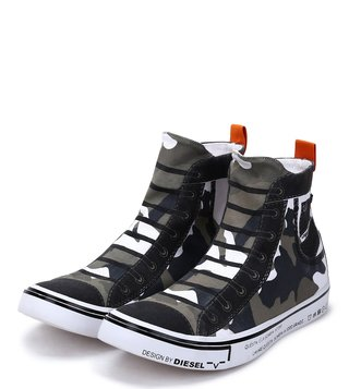 Diesel Green Imaginee Mid Slip Sneakers