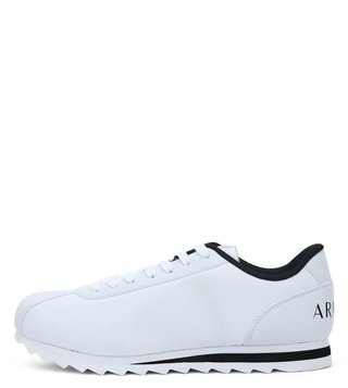 Armani Exchange Bianco Logo Print Low Cut Sneakers
