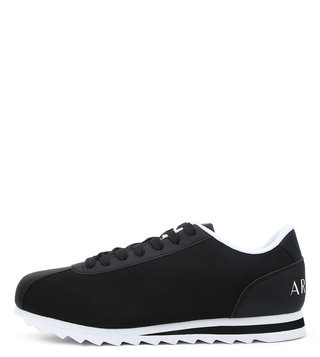 Armani Exchange Nero Logo Print Low Cut Sneakers
