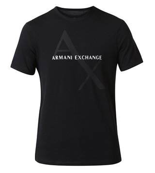 Armani Exchange Black Classic Logo Print T-Shirt
