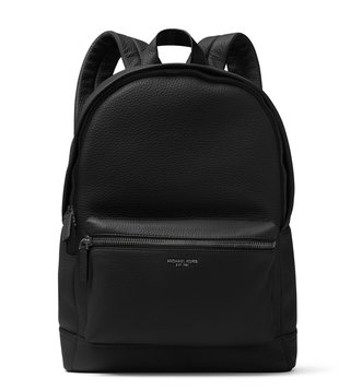 MICHAEL Michael Kors Black Bryant Medium Leather Backpack