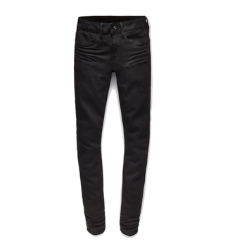G-Star RAW Black 3301 Deconstructed Mid Waist Skinny Jeans