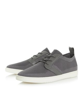 Dune London Grey Terminal Knitted Trainer Sneakers