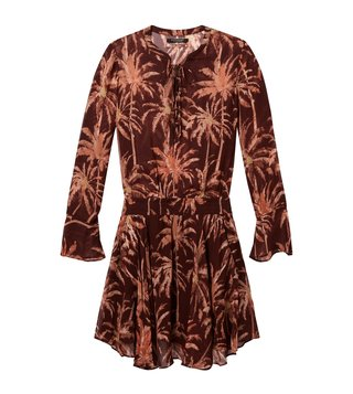 Scotch & Soda Brown Viscose Printed Dress