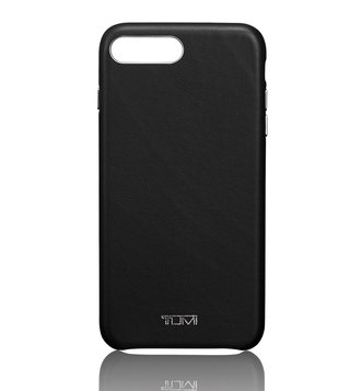 Tumi Black Leather Wrap Iphone 8 Plus Case