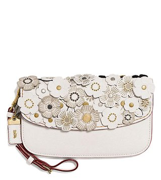 Coach Chalk & Brass Tea Rose Clutch