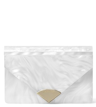 MICHAEL Michael Kors Optic White Barbara Small Clutch