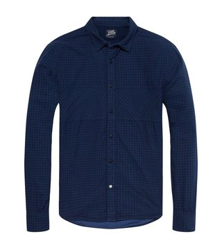 Scotch & Soda Blue Double Weave Shirt