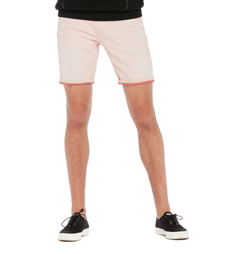 Scotch & Soda Ecru Ralston Yarn Dye Mid Rise Shorts
