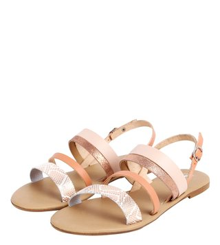 Dune London Blush Lighthouse Di Back Strap Sandals