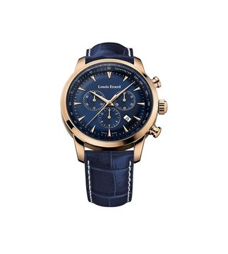 Louis Erard 13900PR15.BRC102 Blue Analog Watch For Men