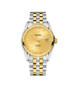 Titoni 83909 SY-064 Yellow Analog Watch For Men