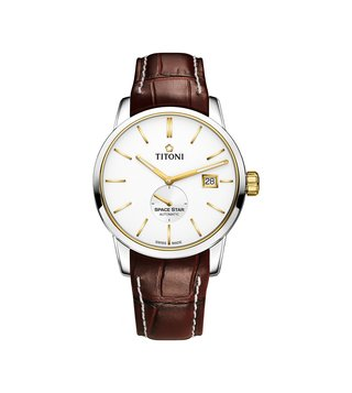 Titoni 83638 SY-ST-606 Silver Analog Watch For Men