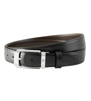 Montblanc Black & Brown Reversible Cut-To-Size Business Belt