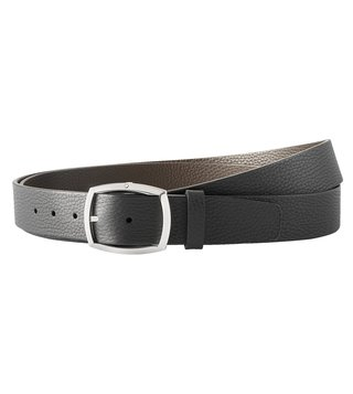 Montblanc Black & Brown Reversible Cut-To-Size Casual Belt