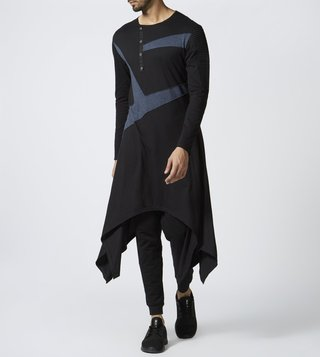 Vivek Karunakaran Black Full Sleeves Kurta