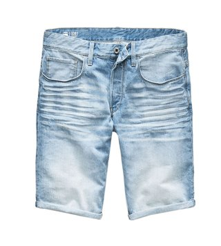 G-Star RAW Light Blue 3301 Distressed Shorts