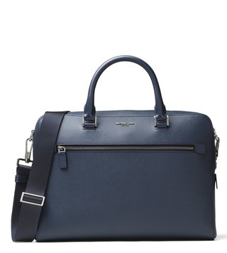 MICHAEL Michael Kors Navy Harrison Leather Briefcase