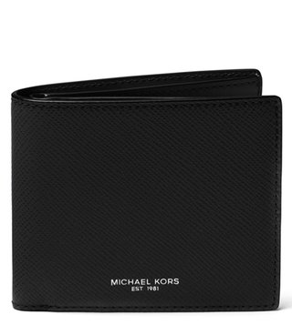 MICHAEL Michael Kors Black Harrison Small Leather Wallet