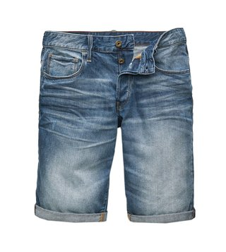 G-Star RAW Blue 3301 Distressed Shorts