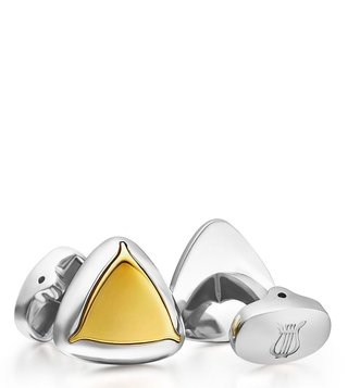 Lapis Bard Shard Gold Cufflinks