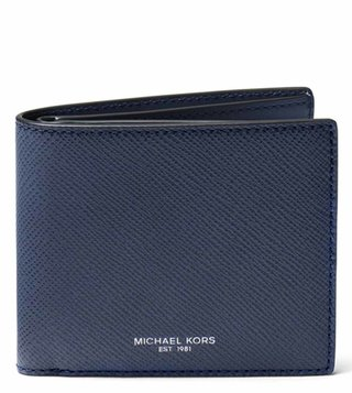 MICHAEL Michael Kors Navy Harrison Small Leather Wallet