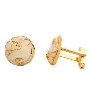 AZGA Ivory Bloom Cufflinks