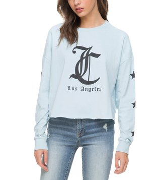 Juicy Couture Archlight Blue Logo Graphic T-Shirt