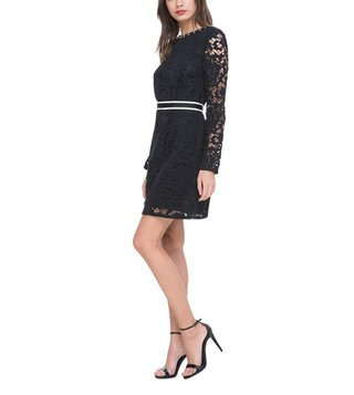 Juicy Couture Pitch Black Stevie Lace Dress