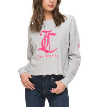 Juicy Couture Heather Pearl Logo Graphic T-Shirt