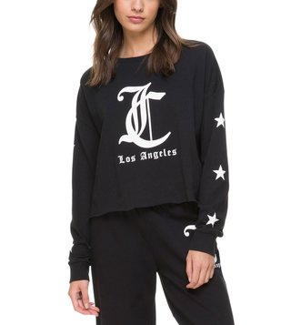 Juicy Couture Pitch Black Logo Graphic T-Shirt