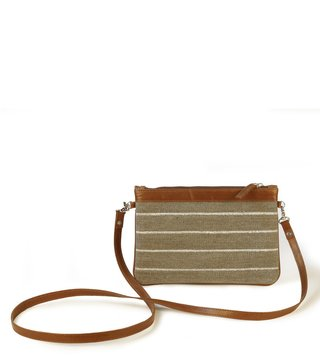 Kannbar Grey & Silver Esha Striped Mini Sling