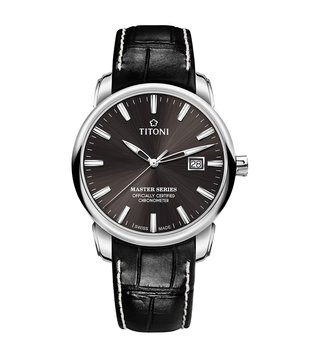 Titoni 83188 S-ST-576 Grey Analog Watch For Men