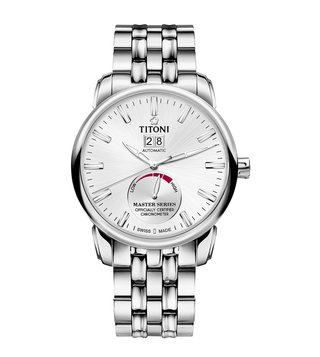 Titoni 94688 S-578 Silver Analog Watch For Men