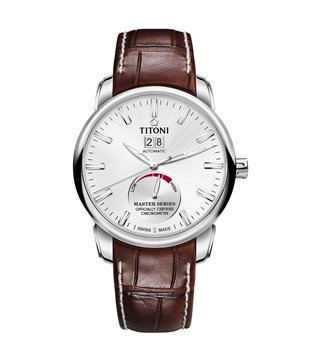 Titoni 94688 S-ST-578 Silver Analog Watch For Men