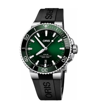 Oris 01 733 7730 4157-07 4 24 64EB Green Analog Watch For Men