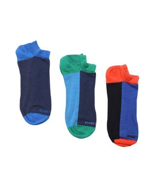 Diesel Multicolor SKM-GOST Low Cut Medium Socks- Pack Of 3